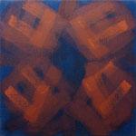 o.T., 2017 - VIII, Acryl auf Jute, 90 x 90 cm