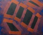 o.T., 2020 - XII, Acryl auf Jute, 80 x 100 cm