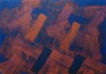 o.T., 2019 - I, Acryl auf Jute, 70 x 100 cm
