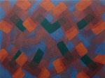 o.T., 2020 - XIX, Acryl auf Jute, 75 x 100 cm