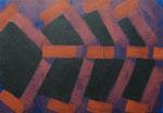 o.T., 2020 - IX, Acryl auf Jute, 70 x 100 cm