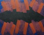 o.T., 2020 - X, Acryl auf Jute, 80x 100 cm