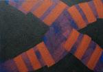 o.T., 2020 - XI, Acryl auf Jute, 70 x 100 cm