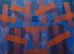 o.T., 2020 - V, Acryl auf Jute, 75 x 100 cm