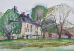 Au an der Enns | Pastell auf Papier | 60 x 43 cm | 2000