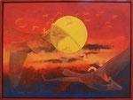 Flug der Graugänse | Acryl | 80 x 60 cm | 2012