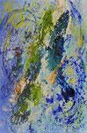 Sog und Fallgeräsuche - tosendes Gewässer | Mischt. a. Leinwand | 100 x 150 cm | 2016