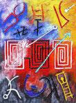Vita Arcaica 4 | tecnica mista su polvere di marmo e tela | 80x60 cm | 2016