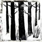 Waldbild | Linoldruck | 28 x 27 cm | 2009