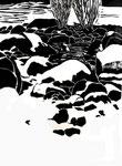 Aisttal - Winter | Linolschnitt | 50 x 38 cm | 2004