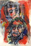 Margarete Schütte Lihotzky's Erinnerungen aus dem Widerstand | Mischt. a. Papier | 70 x 100 cm | 2017