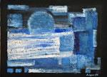 Blau | Öl und Sand auf Karton | 40 x 30 cm | 1986