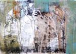 FRAUEN IN DER CHORA | Monotypie auf Papier | 40 x 30 cm | 2018