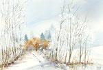 Winter | Aquarell | 40 x 30 cm | 2019