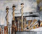Stahlwerk | Acryl | 100 x 80 cm