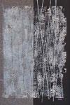 Frozen Moments III | gemischte Druckkgrafik teilweise auf Seidenpapier | 24 x 35 cm