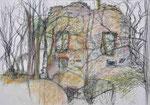Ruine Spielberg | Pastell auf Papier | 60 x 43 cm | 1998