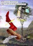 Wohin mit dem Bohnenstroh | Collage | 15 x 10,5 cm | 2009