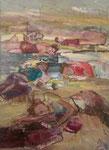 Twitterlandschaft | Öl auf Leinen | 70 x 50 cm | 2012