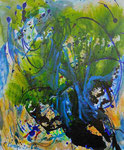 Windgeräusche im Geäst | Mischt. a. Leinwand | 100 x 120 cm | 2016