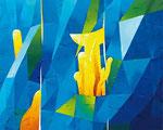 3 Wege | Öl auf Leinwand | 200 x 160 cm | 2014