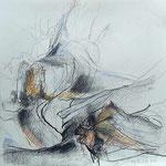 VERGÄNGLICH | Kohle, Pastellkreide, Graphit auf Papier | 40 x 40 cm | 2015