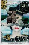Weiße Sockenflut | Collage | 15 x 10,5 cm | 2010