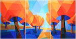 Die Quelle des Lebens, Tryptichon | Öl auf Leinwand | 240 x 120 cm | 2013
