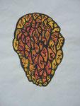 Eigenleben eines Kopfes | Mischtechnik | 56 x 38 cm | 2015
