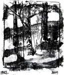 Waldbild | Monotypie | 20 x 21 cm | 2009