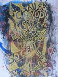 Schau auf den Kopf den großen Pionier | Holzschnitt auf Acryl | 60 x 40 cm | 2013