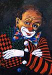 Clown | Öl auf Leinen | 50 x 70 cm | 1994