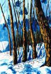 Winterwald | Öl auf Leinen | 80 x 100 cm | 2002