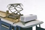 台座は紙の積層構造です