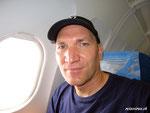 Im Flugzeug von Bangkok nach Yangon