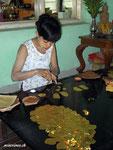 Herstellung von Blattgold