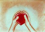 Dein Herz in meinen Händn .... gerahmt 60x50cm                 120.--€