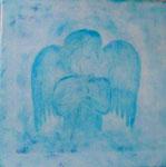 Engel ....... ....Leinwand auf Keilrahmen 30x30cm ...NICHT MEHR ZU HABEN