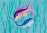 Fische ........40 x 30 cm gerahmt                                         120.--€