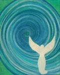 Ich bin dein Engel ...... Leinwand auf Keilrahmen   50x40 cm            180--€