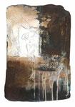 """""""Erde und Licht""""    30 X 20 cm  Öl auf Tonplatte, 2016"""