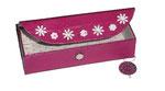 Stiftebox / Brillenetui mit Strukturapapier und Elch pink