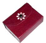 Kleine Box aus Graupappe für Taschentücher ( 8,5 cm x 6 cm x 2,5 cm )