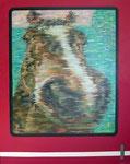 「干支物語ー午ー」 キャンバス、アクリル絵具、162cm×130cm、2011年