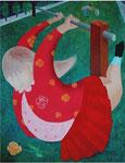 「春の詩」 キャンバス、アクリル絵具、117cm×91cm、2001年、第39回 田川美術展入選