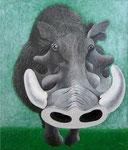 「私の動物図鑑」 キャンバス、アクリル絵具、53cm×46cm、2002年