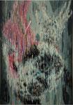 「バグっちゃった」 パネル、綿布、アクリル絵具、油絵具、228cm×162cm、2008年、Toyota Art Competition とよた美術展2010入選
