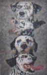 「あしたのカミサマ」 パネル、綿布、アクリル絵具、228cm×146cm、2010年、第2回Dアートビエンナーレ 優秀賞