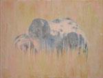 「misty」アクリル絵具 パネル 綿布 32×41cm 2014年