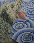 「tide Ⅳ」 パネル、麻紙、アクリル絵具、水性アルキド樹脂絵具、油絵具、162cm×130cm、2009年